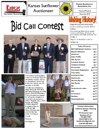 December 2010 Sunflower Auctioneer
