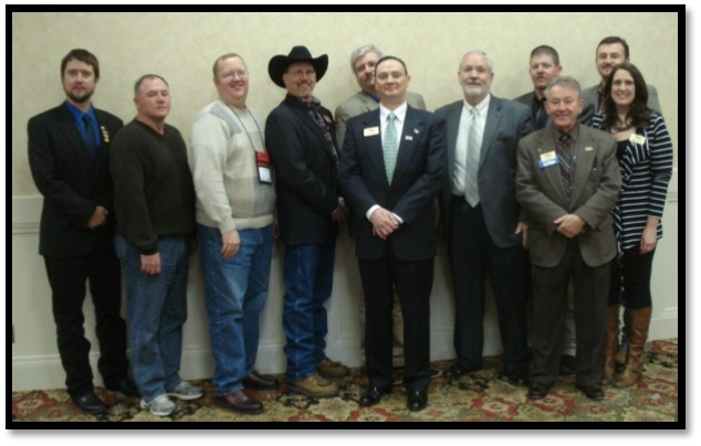 (Left to RIght)  Aaron Traffas, Rick James, Robert Mayo, Tom Lindsay Jr, Jeff Ruckert, Lance Fullerton, Richard Garvin, Kevin Ediger, Jim Schoen, Bill Eberhardt, Megan McCurdy