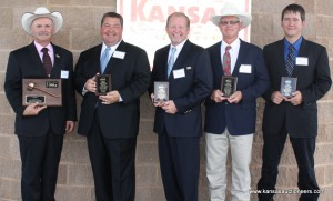 2012 Auctioneer Champion Jeff Crissup and four runners-up